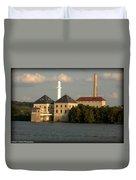 Ohio River Bank Duvet Cover
