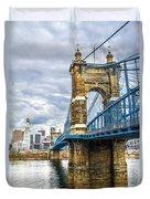 Ohio River Bridge Duvet Cover