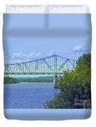 Ohio River Crossing Duvet Cover