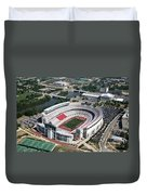 Ohio Stadium Aerial Duvet Cover