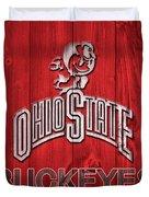 Ohio State Buckeyes Barn Door Duvet Cover