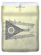 Ohio State Flag Design Duvet Cover