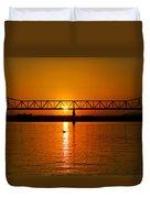 Ohio Sunset Duvet Cover