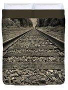 Ohio Train Tracks Duvet Cover