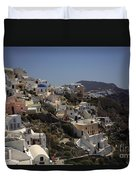 Oia By Day Duvet Cover