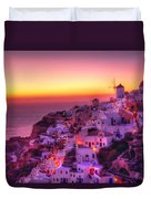 Oia Sunset Duvet Cover