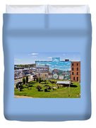 Oil And Gas Musem Duvet Cover