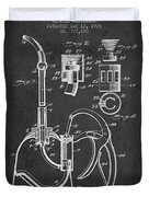Oil Can Patent From 1903 - Dark Duvet Cover