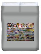 Oil Cans And Gas Signs Duvet Cover by Garry Gay