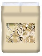 Oil Painting - A Cross Link Fence Duvet Cover