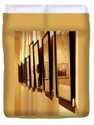 Oil Painting - Getting Framed Duvet Cover