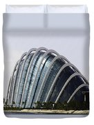 Oil Painting - One Of The Conservatories Of The Gardens By The Bay In Singapore Duvet Cover