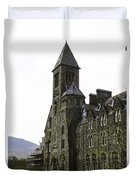 Oil Painting - Repair Of The Benedictine Abbey At Fort Augustus Now Apartments Duvet Cover