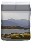 Oil Painting - Rugged Shoreline And Waters Of A Loch In The Scottish Highlands Duvet Cover