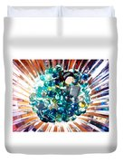 Oil Painting - Shine All Around Duvet Cover