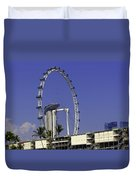 Oil Painting - Singapore Flyer And Marina Bay Sands Along With Preparation For  Duvet Cover