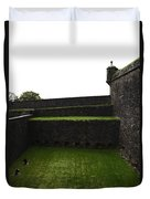 Oil Painting - The Depth Of The Moat Now Covered With Grass At Stirling Castle Duvet Cover