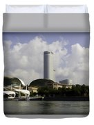 Oil Painting - The Swissotel Is A Tall Hotel In Singapore Next To The Esplanade Duvet Cover