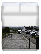 Oil Painting - Van Approaching The Entrance Of The Stirling Castle In Scotland Duvet Cover