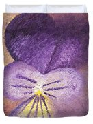 Oil Painting Of Pansy - Viola Tricolor Duvet Cover