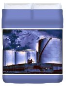 Oil Storage Tanks 2 Duvet Cover