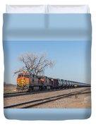 Bnsf Oil Train In Dilworth Minnesota Duvet Cover