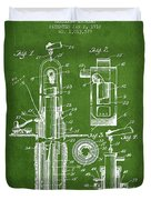 Oil Well Pump Patent From 1912 - Green Duvet Cover