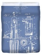 Oil Well Pump Patent From 1912 - Light Blue Duvet Cover