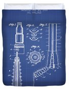 Oil Well Reamer Patent From 1924 - Blueprint Duvet Cover