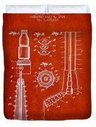 Oil Well Reamer Patent From 1924 - Red Duvet Cover