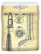 Oil Well Reamer Patent From 1924 - Vintage Duvet Cover