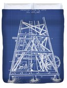 Oil Well Rig Patent From 1893 - Blueprint Duvet Cover