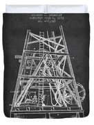 Oil Well Rig Patent From 1893 - Dark Duvet Cover