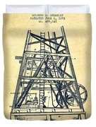 Oil Well Rig Patent From 1893 - Vintage Duvet Cover