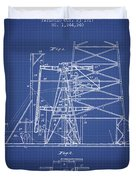 Oil Well Rig Patent From 1917 - Blueprint Duvet Cover