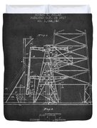Oil Well Rig Patent From 1917- Dark Duvet Cover
