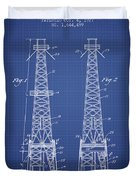 Oil Well Rig Patent From 1927 - Blueprint Duvet Cover