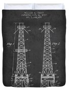 Oil Well Rig Patent From 1927 - Dark Duvet Cover