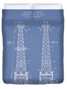 Oil Well Rig Patent From 1927 - Light Blue Duvet Cover