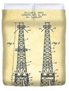 Oil Well Rig Patent From 1927 - Vintage Duvet Cover