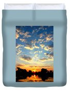 Okavango Delta Sunset Duvet Cover