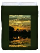 Okavango Sunset Duvet Cover