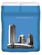 Oklahoma City Skyline - Slate Duvet Cover
