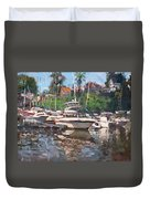 Olcott Yacht Club Duvet Cover