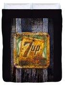 Old 7 Up Sign Duvet Cover