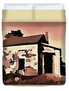Old Abandoned House In Cape Breton Duvet Cover by John Malone