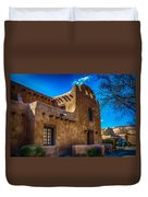 Old Adobe Building Santa Fe New Mexico Duvet Cover