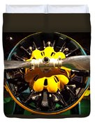 Old Airplane Propellers Duvet Cover