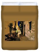 Old Alley At Night Duvet Cover