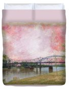 Old Amelia Earhart Bridge Duvet Cover